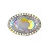Resin Sew-on Piikki Stones 10pcs 20x30mm Oval Crystal Aurora Borealis